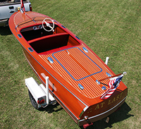 1948 17' Chris Carft Deluxe Runabout Boat For Sale