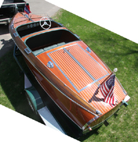 1642 Chris Craft 17' Barrel Back
