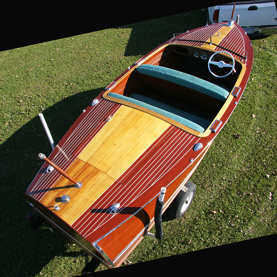 double cockpit wooden boat