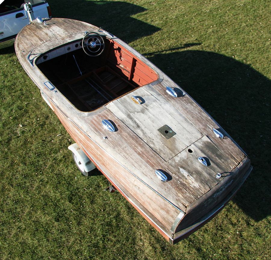 Classic Chris Craft project boat