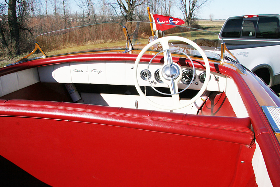 Chris Craft 18' Riviera Runabout Steering Wheel and Dash