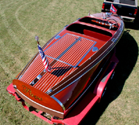 1940 19 ft Chris-Craft Barrel Back Antique Runabout Speedboat