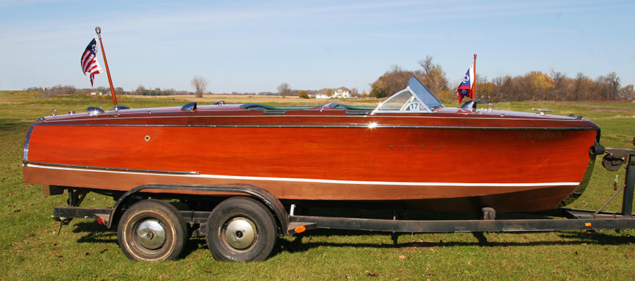 Chris Craft Barrel Back side view