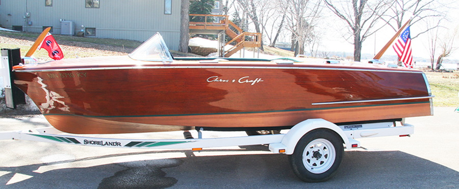 1956 19 ft Chris Craft Capri Wooden Runabout - Side View
