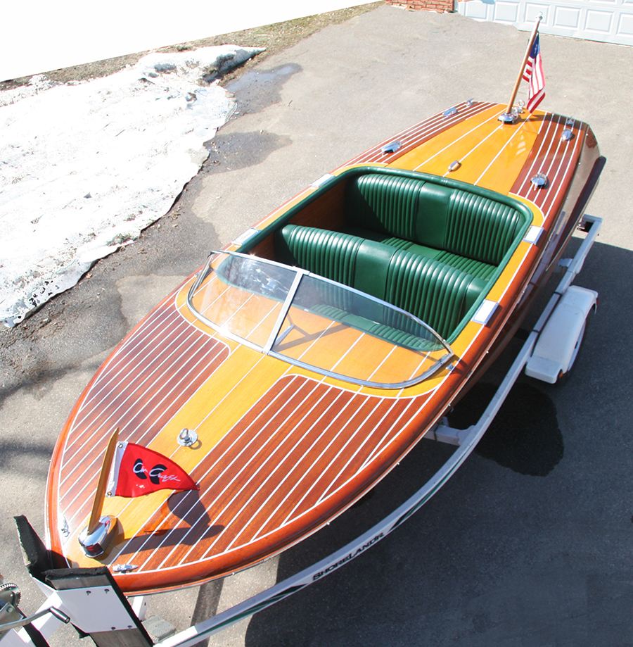 1956 19 ft chris craft capri classic wooden runabout for sale for Classic chris craft boats