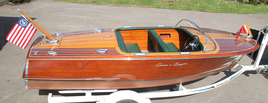 1956 19 ft Chris Craft Capri Classic Wooden Boat - Side View