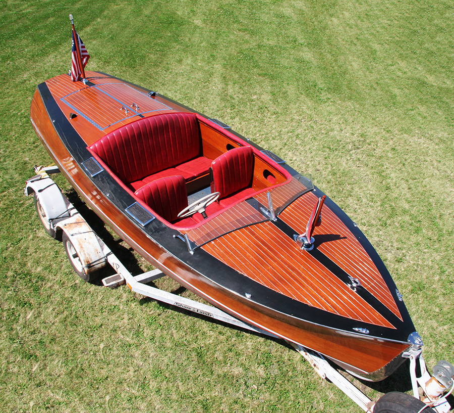 1936 Chris Craft Custom Runabout overhead view