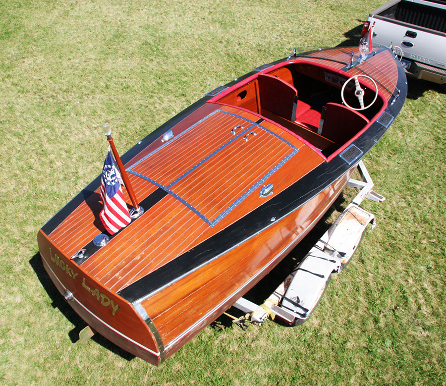 1936 Chris Craft Custom Runabout starboard side