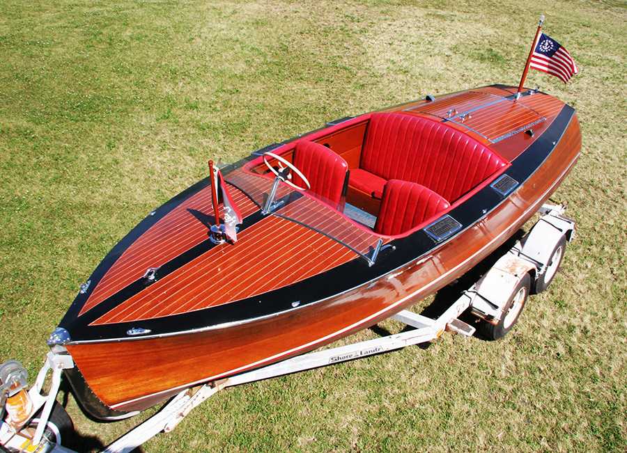 1936 Chris Craft Custom Runabout front deck