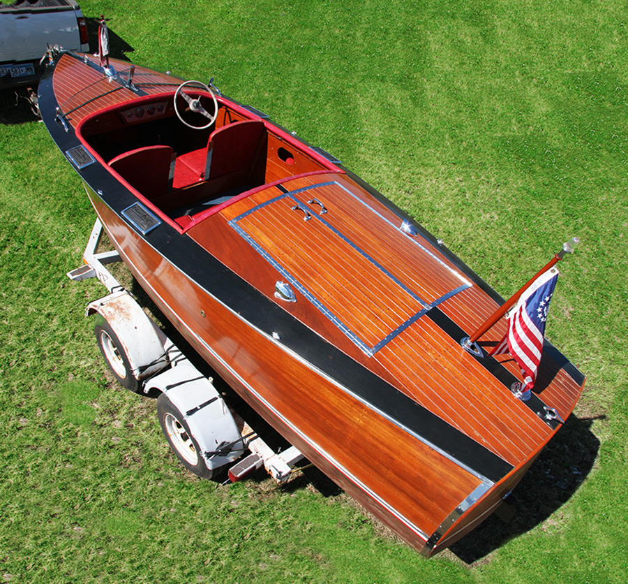 1936 Chris Craft Custom Runabout rear deck