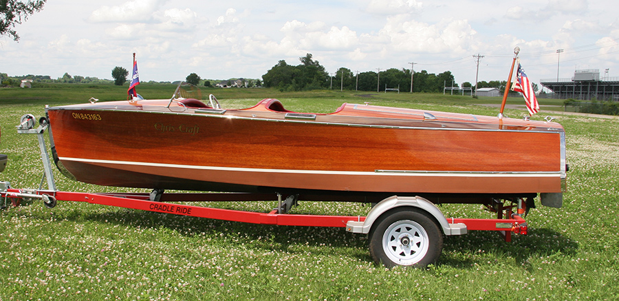 1937 19' Chris Craft Custom Runabout for sale side view