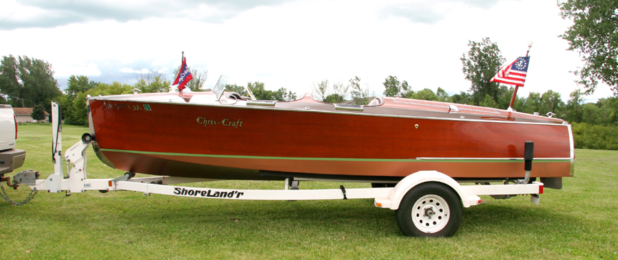 1938 19' Chris Craft Custom Runabout for sale minnesota