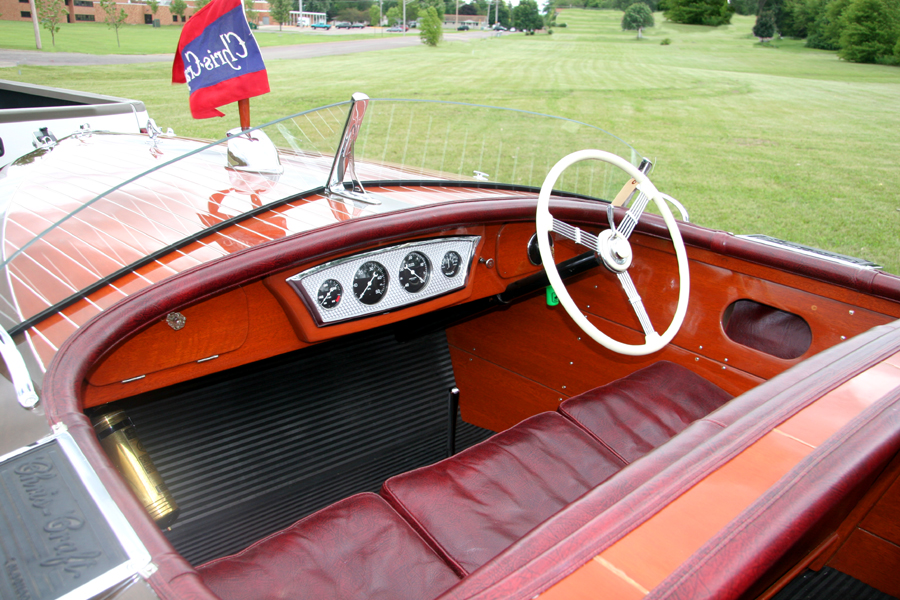 1938 19' Chris Craft Custom Runabout dash board
