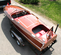 19 ft Chris Craft Racing Runabout Classic Wooden Speedboat