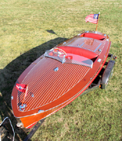 1954 19' Classic Chris Craft Racing Runabout split cockpit for sale