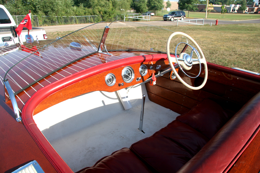 Dashboard of 1954 19' Chris Craft Racing Runabout