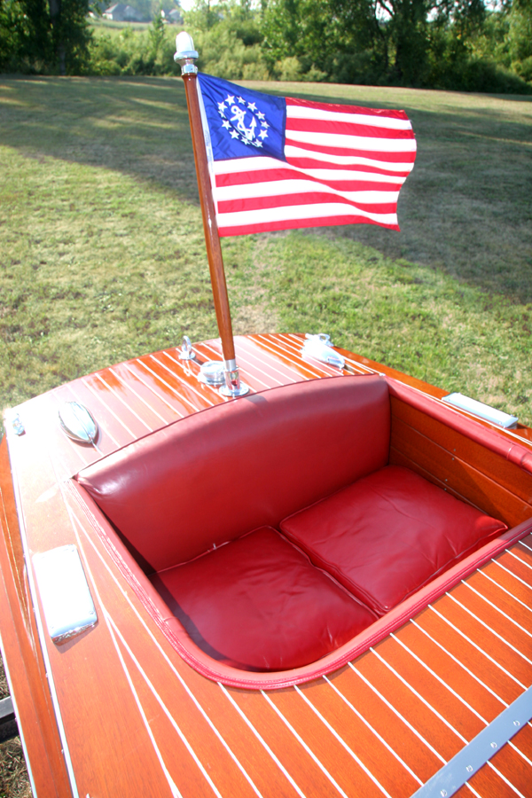 Rear Cockpit of 1954 19' Chris Craft Racing Runabout