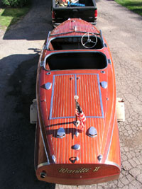 1941 19' Chris Craft Custom Runabout Barrel Back double cockpit