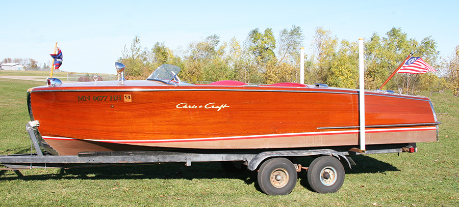 1954 20' Chris Craft Riviera port side view