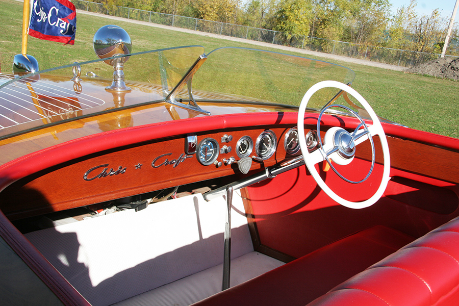 1954 20' Chris Craft Riviera dash board