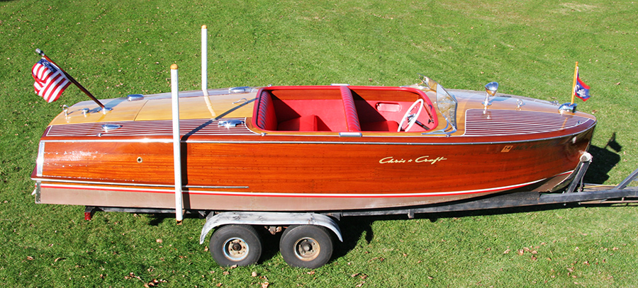 1954 20 39 chris craft riviera classic runabout for Chris craft boat restoration