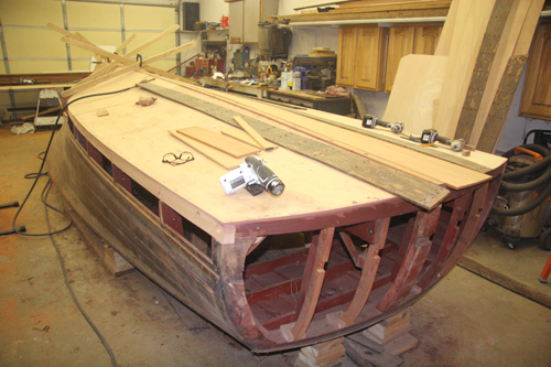 Adding outer bottom planks