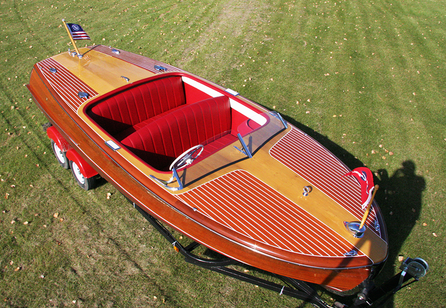 Classic Chris Craft 20 ft Riviera Boat For Sale