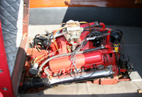 Cadillac V8 engine in 1955 Chris Craft 22' Continental Hardtop