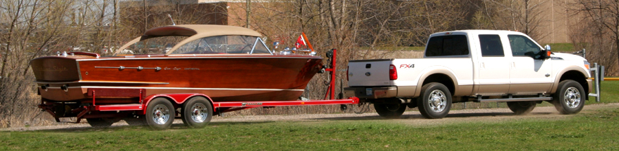1956 Chris Craft 22' Continental Hardtop on trailer