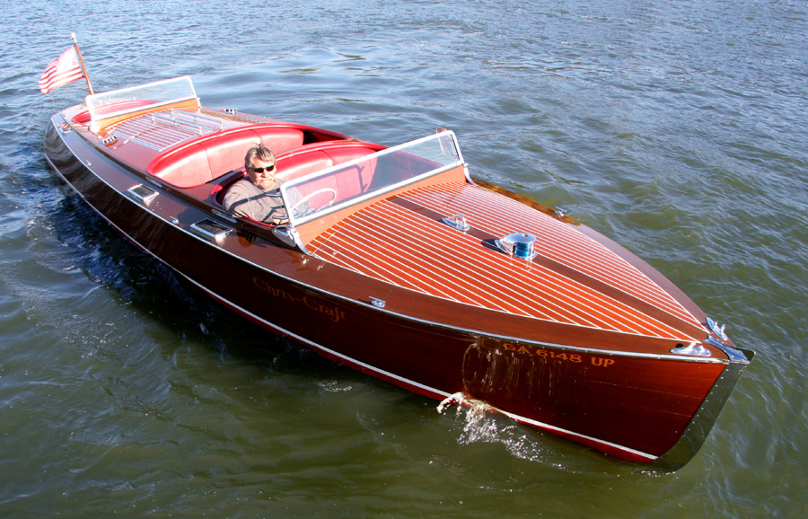 1937 25 Chris Craft Triple Cockpit Runabout For Sale