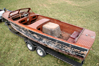 1946 25' Chris Craft Sportsman project boat $31,500.