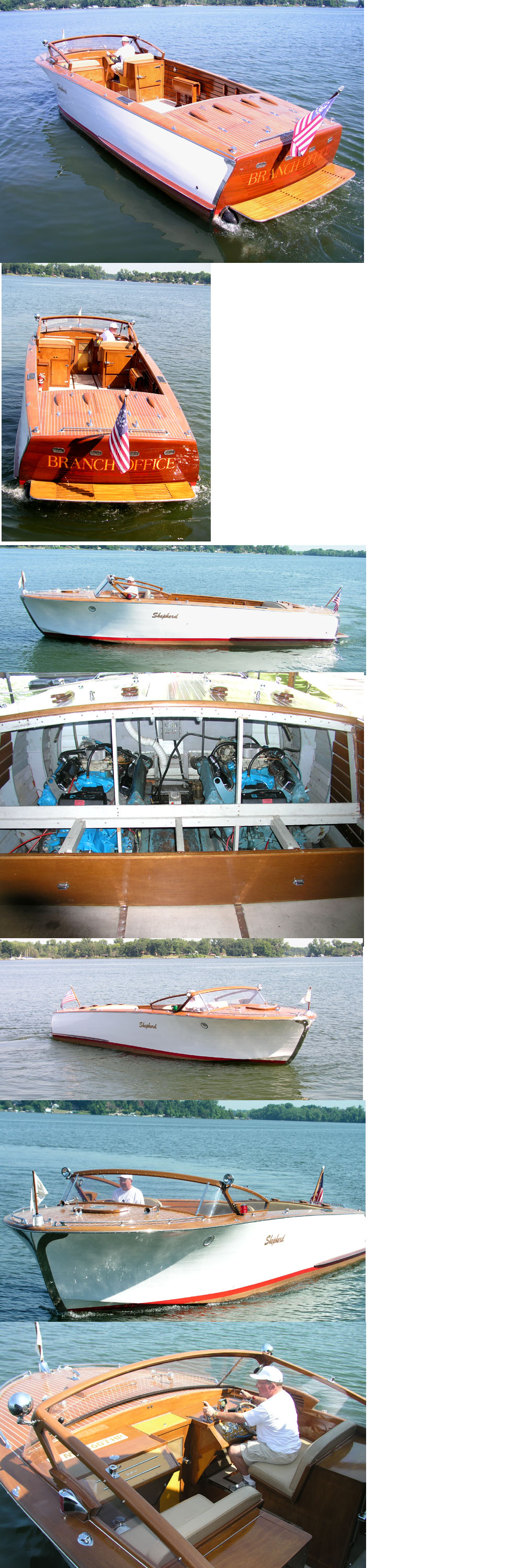 wooden boats - 31' Shepherd Commuter
