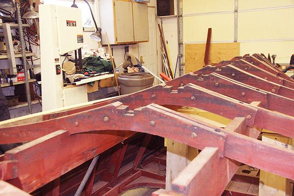 Old Chris Craft mahogany ribs
