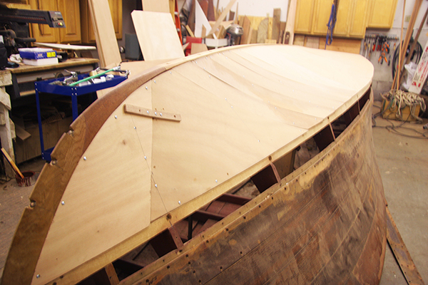 Installing the Inner Plywood Layer of a New 3M 5200 Bottom on a Classic Chris Craft
