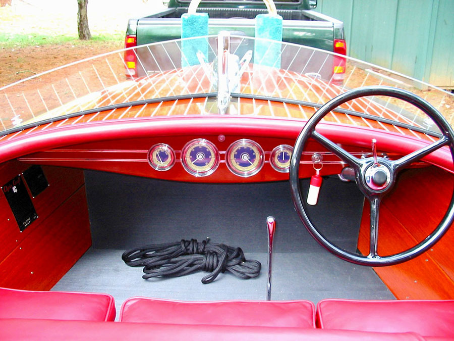 1940 16' Chris Craft Race Boat Dash Board and Gauges