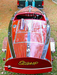 1940 16 ft Chris-Craft Special Race Boat - Varnished Version