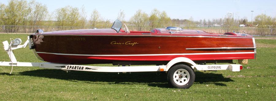 1949 19 chris craft racing runabout