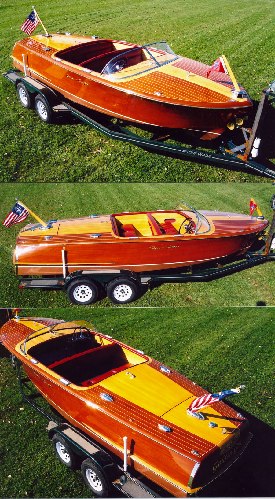 classic boat - 1955  21 ft Chris Craft Capri