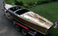 1947 21 ft Jeffrey wooden runabout
