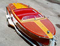 1950 20' Chris Craft Riviera, classic wooden boat