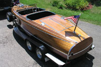 1939 19' antique Chris Craft Custom Runabout (Barrel-Back)