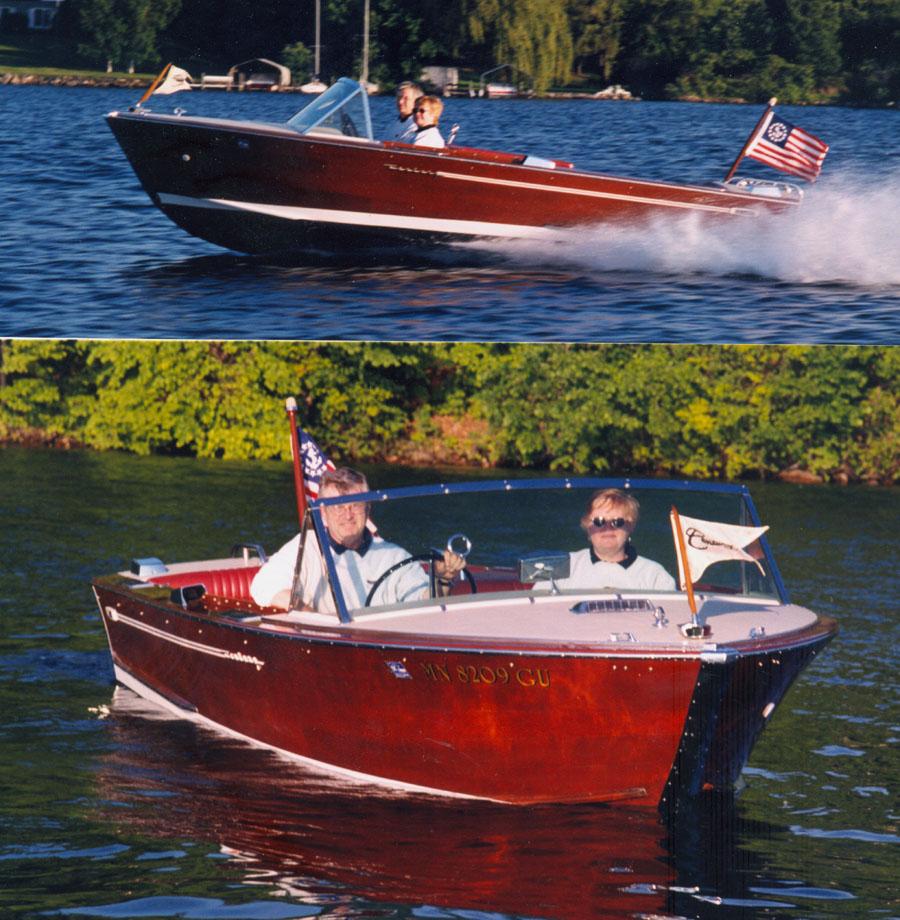 Wood Boat For Sale, 17 1/2 Ft Century Resorter