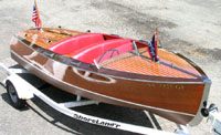 1942 17' Chris Craft Deluxe Runabout, Classic Wooden Boat