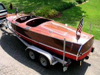 1938 19' Chris Craft Custom Runabout, antique wooden boat