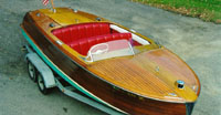 Classic Chris Craft mahogany boat 1952 20' Riviera