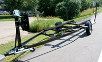 Custom Single Axle Trailer for Classic Antique Wooden Boats